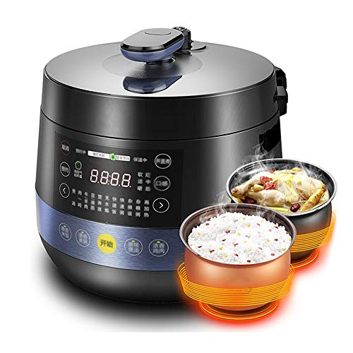 YFGQBCP Robot Cocina Olla de presión Inteligente for Uso doméstico, 5l de Alta presión for cocinar arroz, Control de presión, 1 botón de Escape de Seguridad de Lanzamiento, el Mando Giratorio