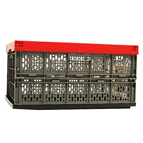 Gies Haushaltsware, Plastik, rot-grau-schwarz, 54 x 36 x 28 cm