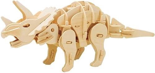 ¡no ser extrañado! Triceratops 3D Puzzle Puzzle Puzzle caminar robots de madera juguetes para Niños-arte arquitectónico rompecabezas-mejor regalo educativo para Niños y niñas  online barato