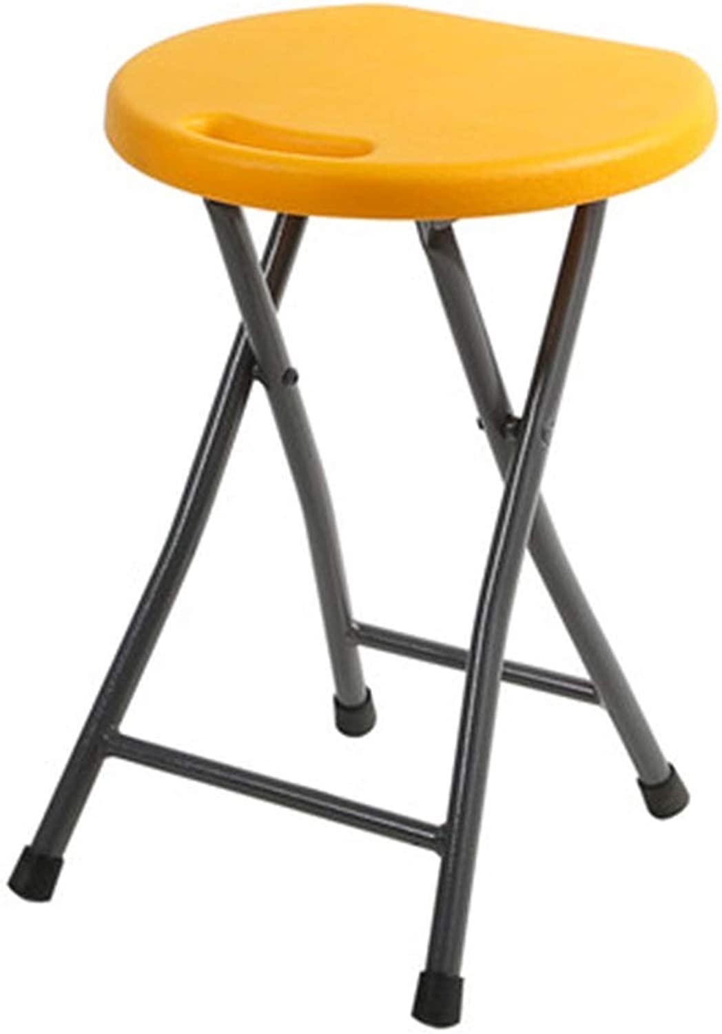 Folding Chair Folding Stool Household Plastic High Stool Portable Outdoor Stool Adult Sitting Stool Student Dormitory Stool Folding Chair