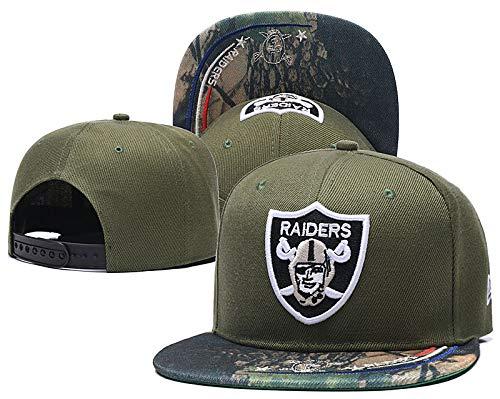 NFL Team Stretch Fit Cap NHL Adjustable Hat Fans Hip Hop Hat Fashion Snapback Cap Unisex Baseball Cap for Trucker Football Puck Hockey Baseball (Raiders)