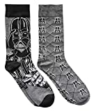 Star Wars Darth Vader Argyle Men's Crew Socks 2 Pair Pack Shoe Size 6-12
