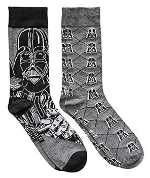 Star Wars Darth Vader Argyle Men s Crew Socks 2 Pair Pack Shoe Size 6-12