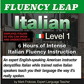 Fluency Leap: Italian Level 1  audiobook cover art