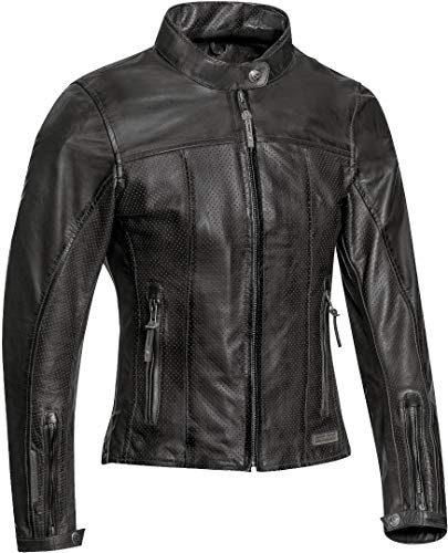 Ixon Chaqueta moto Crank Air Lady Negro, Negro, M