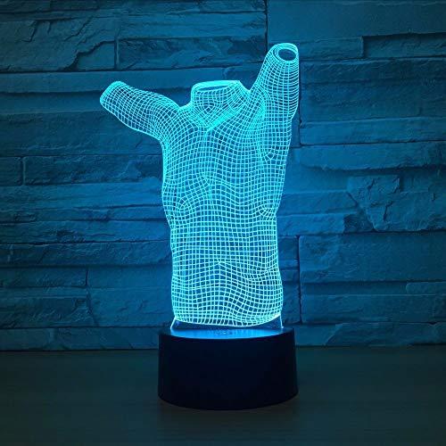 Lifme Corps Humain Abstrait Forme Acrylique Led 3D Veilleuse Usb 7 Couleurs Touch 3D Lampe Lampe De Table Creative Toy Art Co Cadeau
