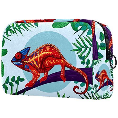 Bolso de cosméticos para mujer, bolsa de maquillaje, organizador de artículos de tocador, bolsa con cremallera de 19 x 7 x 12 cm, cristal manchado