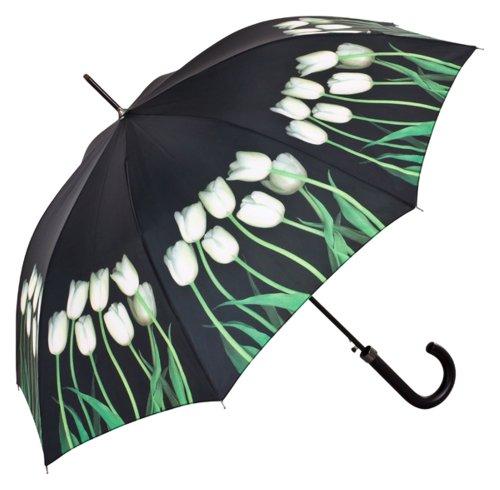 VON LILIENFELD® paraplu automatische dames bloemen Harold fijnsteen: witte tulpen
