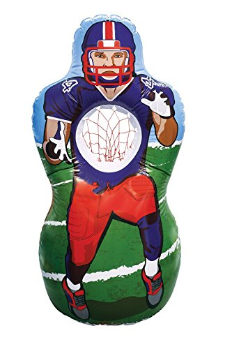 Kovot Inflatable Football Target Set - Inflates to 5 Feet Tall! - Soft Mini Toss Balls Included