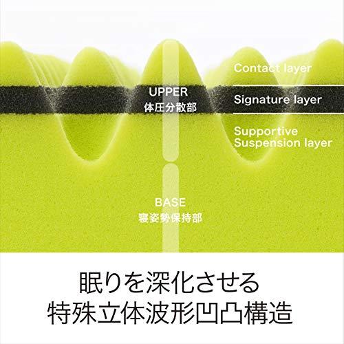 西川[エアー01]マットレスシングル高反発厚み8cm特殊立体波形凹凸構造通気性軽量エアーAiRイエロー/ベーシックHC09401621Y