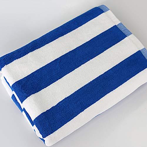 DSJDSFH badhanddoek, eenvoudig, van katoen, gestreept, comfortabel, strandhanddoek, 160 x 80 cm, 780G