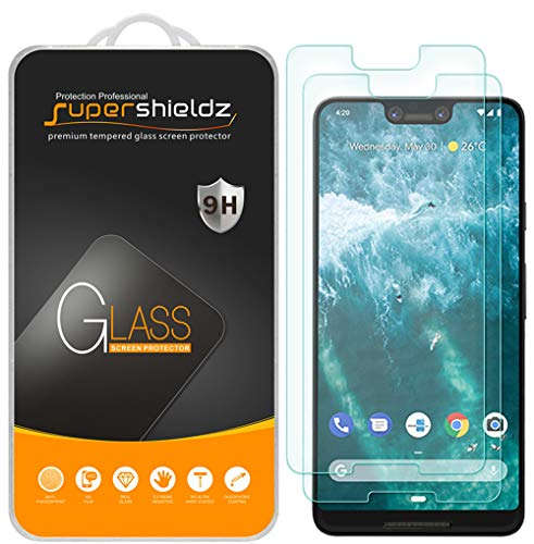 (2 Pack) Supershieldz Designed for Google (Pixel 3 XL) Tempered Glass Screen Protector, 0.33mm, Anti Scratch, Bubble Free