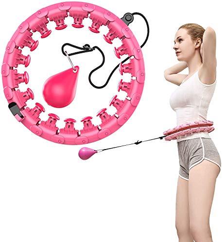 Cihely Hula Hoop, Intelligent Einstellbar Breit Hula Hoop Reifen Fitness mit Massagenoppen für Kinder Erwachsene Anfängermit Gymnastikreifen zum Abnehmen, Fitness, Massage