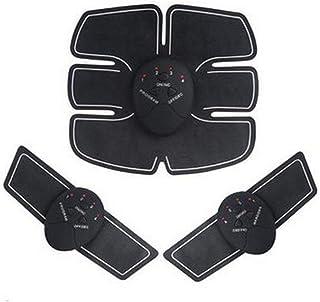 腹筋ペースト、自動知能腹部器具、電気腹筋ペースト、怠惰な筋肉トレーニングフィットネス機器 (Color : Black)