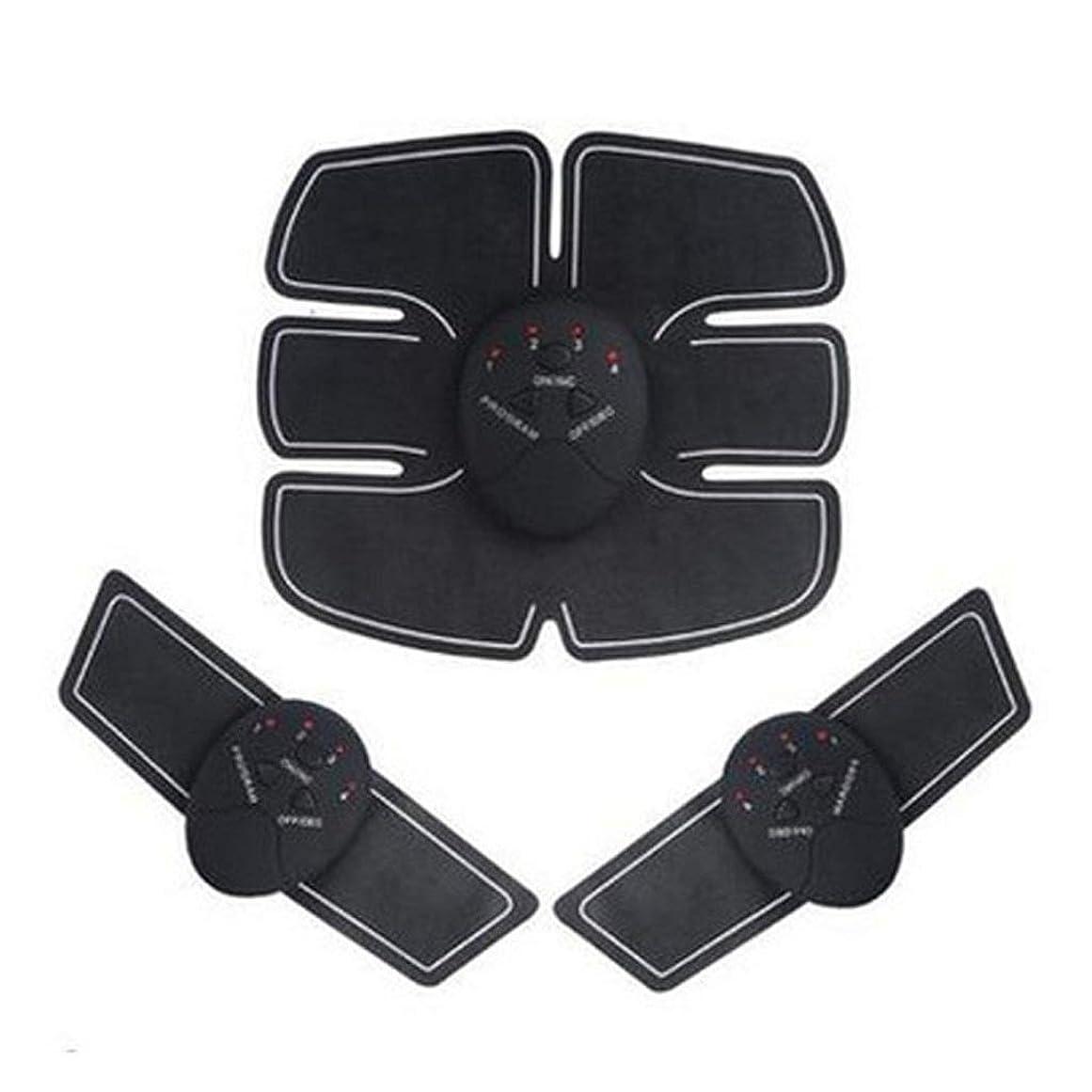 フラップジャンピングジャック南西腹筋ペースト、自動知能腹部器具、電気腹筋ペースト、怠惰な筋肉トレーニングフィットネス機器 (Color : Black)