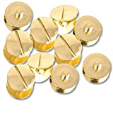 Figures Toy Company Set of 10 Gold Replacement Screws Compatible with WWE, ROH, TNA, UFC Replica Belts