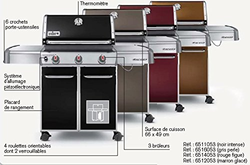 Weber Barbecue à gaz genesis noir intense E-310