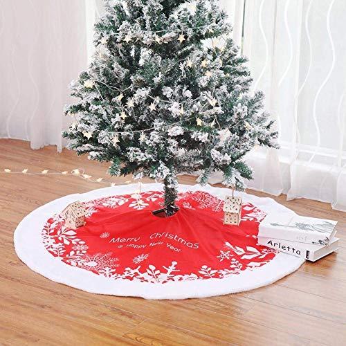 Falda de árbol de Navidad Alfombra de felpa 49 pulgadas (122 cm) Cubierta de base de falda de árbol de Navidad de felpa para Home Bar Hotel Vacaciones de Navidad Decoración de fiesta de año nuevo