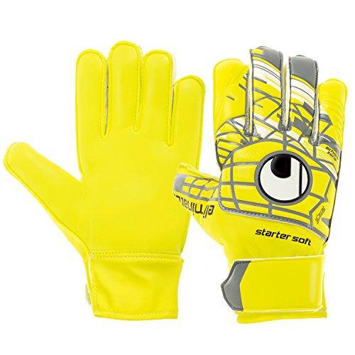 uhlsport Herren ELM Unlimited Starter Soft Torwart-Handschuhe, LITE Fluo gelb/Griffin gr, 7