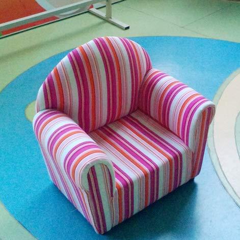 Htimer kinderbank in landelijke stijl van stof voor kinderen combinatie enkele stoel tuinstoel Purple Pink Round Back