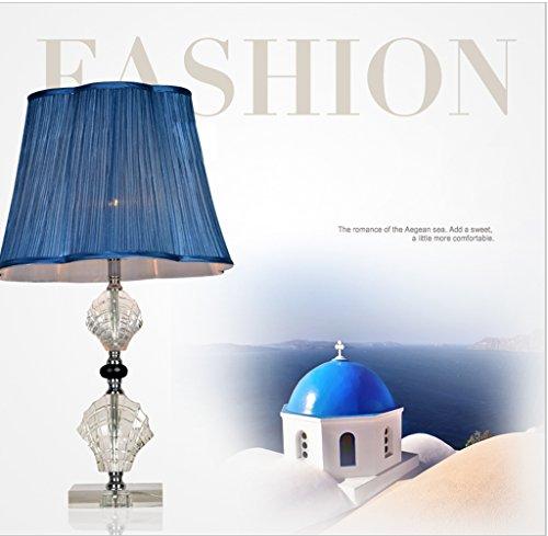 DLewiee Minimalista Moderno Modo Di Cristallo Camera Da Letto Della Lampada Lampada Da Comodino Lampada Da Tavolo Da Salotto Decorata In Blu