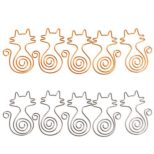 UNFAIR Brosche Trombones Metall Chat Niedlich, Quetschen Lesezeichen Notizbuch, Briefpapier-Schule Büro