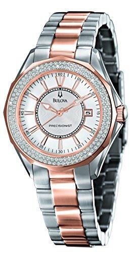 ブローバ Bulova #98R163 Women's ウィメンズ レディース 女性用 Precisionist Diamond (2/3 ct. t.w.) Two-Tone Stainless Steel Bracelet Watch 時計 腕時計 [並行輸入品]