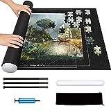 Puzzle Roll Fieltro 2000 Piezas - Tapete para Puzzles, Tapete Guarda Puzzle Roll para Adultos Niños, Enrollar Puzzles, Estera de Rompecabezas Portátil, Puzzle Mat Roll, Mat Felt, Puzzle Manta (Negro)