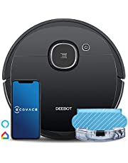 Ecovacs Robot Vacuum OZMO920 Robotic Vacuum Cleaner with Mop, Smart Navi 3.0 Laser Technology, Carpet Detection, Multi-floor Mapping, Virtual Boundary, Alexa/App/WIFI for Low-pile Carpets & Hard Floor
