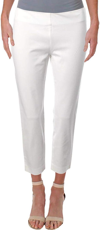 Lauren Ralph Lauren Womens Keslina Cropped Skinny Dress Pants White 0