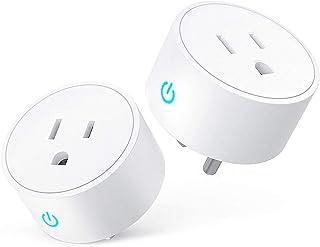 INGEQUIS Enchufe Inteligente Wifi, Smart Plug, Mini Outlets con Función de Temporización, Control de Voz y Control Remoto ...