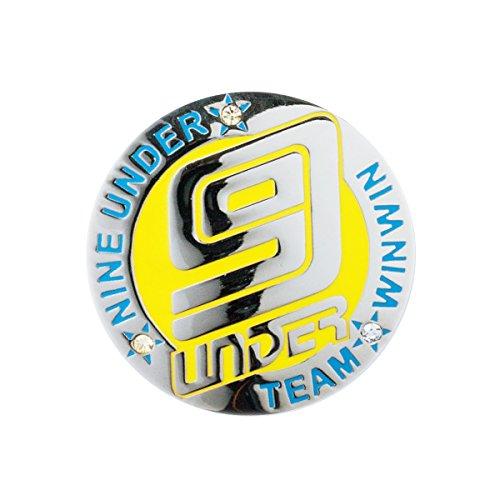 WINWIN STYLE(ウィンウィンスタイル) メガマーカー NINE UNDER NINE UNDER MM-303 ユニセックス MM-303 イエロー デザイン:型打ち製法(七宝仕上げ)/クリスタルストーン入り
