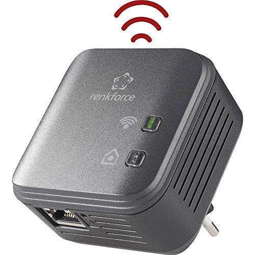 Renkforce PL500D WiFi Powerline WLAN Einzel Adapter 500 MBit/s