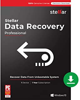 Stellar Data Recovery Software | for Windows | Professional | Recover Lost or Deleted Photos, videos & audio files | 1 Device, 1 Yr Subscription [PC Download]