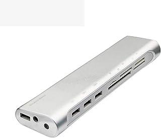 WMWHALE Hub USB 3.0 8 em 1 de velocidade rápida 3.0 de 5 Gbps, leitor de cartão universal XD/celular SD, TF/câmera CF, div...