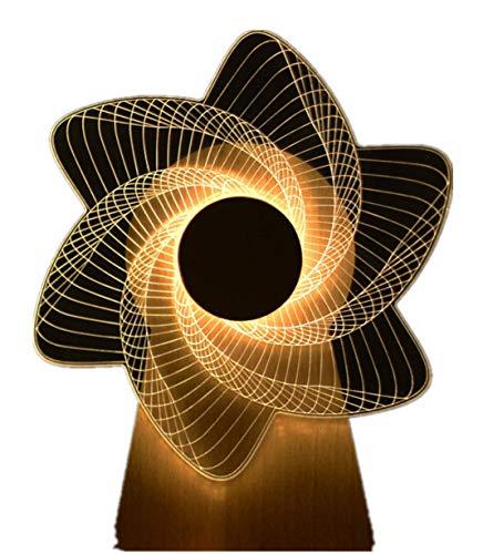 Houten Muziekdoos Windmolen Roterende Muziekdoos 3D Nachtlampje Creatieve Geschenklamp Voedingslamp Hollandse Molen