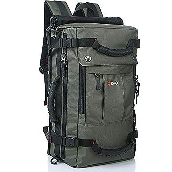 KAKA Travel Backpack,Carry-On Bag Water Resistant Flight Approved Weekender duffle backpack Rucksack Daypack for Men Women  Green