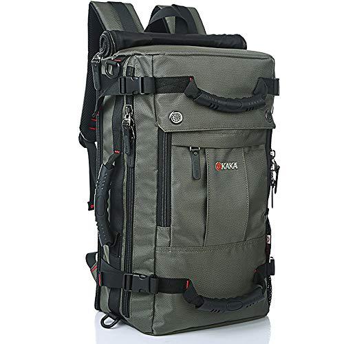 KAKA Travel Backpack,Carry-On Bag Water Resistant Flight Approved Weekender duffle backpack Rucksack Daypack for Men Women (Green)