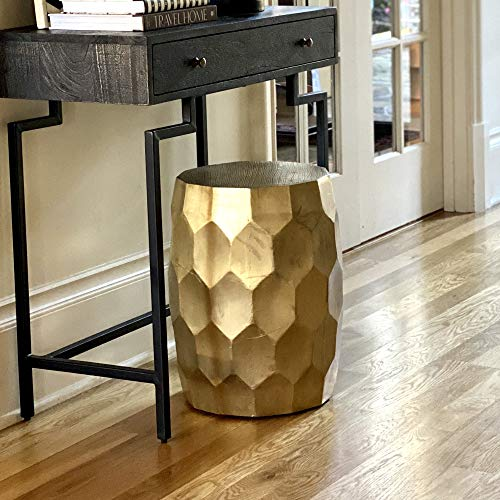 Posh Pollen Anna Brass End & Side Side Table, Gold