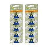 MovilCom® - 20 Pilas botón AG0 Pila Reloj 1.5V Equivalente a SR521, 379, LR521 SR521SW, SR63, V379, D379, S521E, 618, JA, 280-59, SB-AC/DC,SR63, AG521
