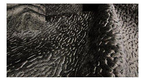 Fabrics-City% SCHWARZBRAUN EXKLUSIV PERSIANER FELL STOFF FELLIMITAT LUXUS STOFFE, 3154