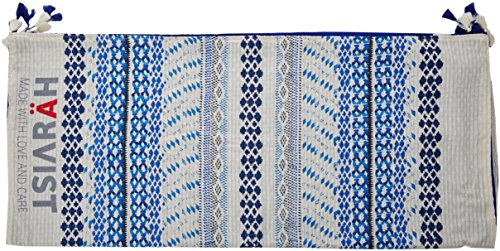 HÄRVIST Htcpab, Pareo Toalla con Bolso Para Mujer, Multicolor (Azul / Blanco), Talla Única