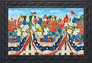 """Briarwood Lane American Birds Spring Doormat Patriotic Floral Indoor Outdoor 18"""" x 30"""""""