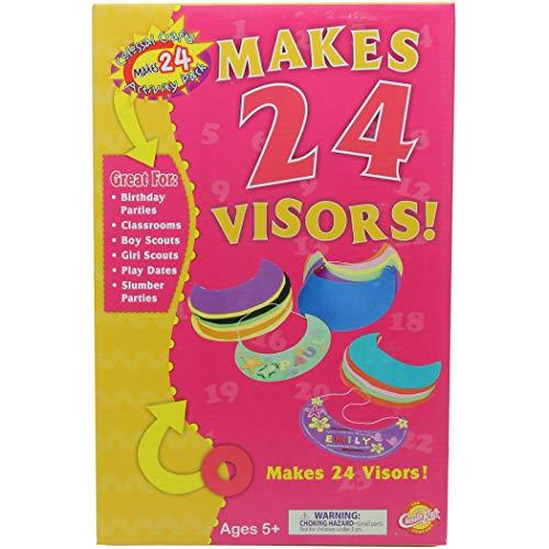 Creativity Street CK-5487-A1 Colossal Crafts Soft Foam Visors Kit, Assorted (Pack of 24)