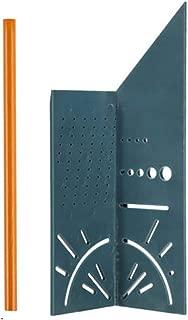 (ライチ) Lychee 定規・ペンセット 一発止型定規 ポリカーボ 定規測定ツール 直角型 分度器付き 大工ケガキ工具 耐久性が高い 90度 45度 直接マーキングできる定規