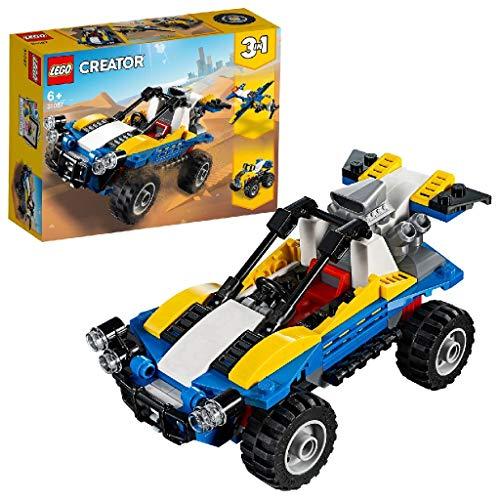LEGO Creator DuneBuggy, Fuoristrada, Aeroplano e Quad, Set da Costruzione 3in1,Veicoli Giocattolo per Bambini dai 6 Anni in su, 31087