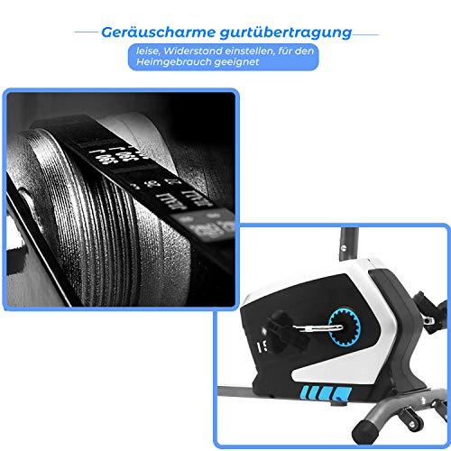 ISE Fahrrad Ergometer Fitness Heimtrainer mit Pulssensoren SY-8801 - 4