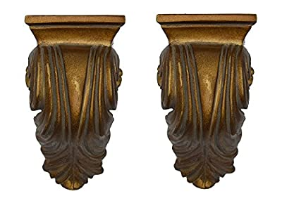 Urbanest Set of 2 Cameau Drapery Sconce, 2-inch Diameter, English Gold