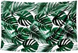 HUAYI 5x7ft Summer Theme Backdrop Tropical Jungle Cover Dark Green Palm Leaves Background for Photography Baby Shower Wedding Party Decoration Photo Booth XT-6196