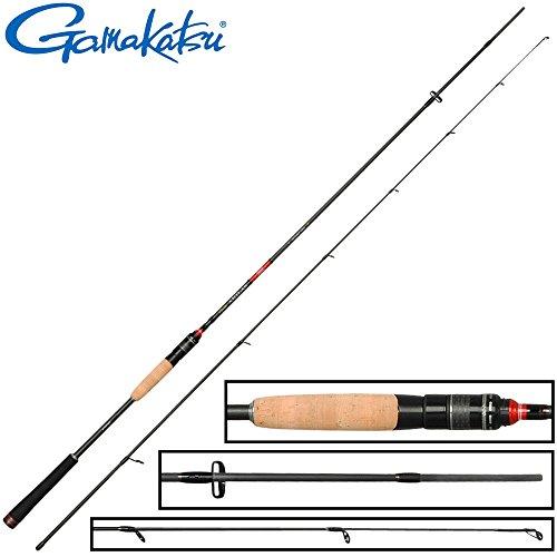 Gamakatsu Akilas 80ML 2,40m 3-15g - leichte Spinnrute zum Spinnangeln auf Barsche & Forellen, Barschrute zum Spinnfischen